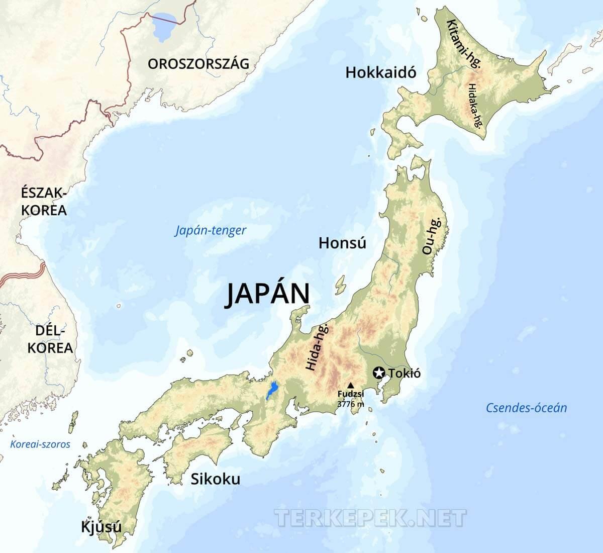 japán domborzati térkép Japán domborzati térképe japán domborzati térkép